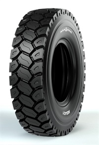 Maxam says the deep grooved tread design of the MS401 provides excellent traction in rigid dump truck applications.