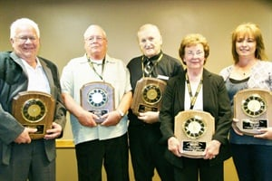 Winners of the Minnesota School Bus Operators Association's 2014 Transportation Specialist Awards, from left: Alfred Miller, Don Puetz, Bob Janes, Patty Schunemann and Kim Arnold.
