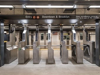 A New York MTA program includes measures to deter fare evasion with enhanced exit gates and additional monitors and cameras throughout the system.Photo by Patrick J. Cashin / Metropolitan Transportation Authority