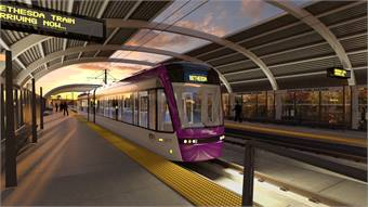 Rendering of Purple Line via the MTA.