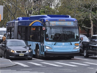 The bus-mounted ABLE systems are installed on 123 MTA buses across the three bus routes.Marc A. Hermann