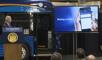 Photo from N.Y. MTA's eTix launch May 2016. MTA