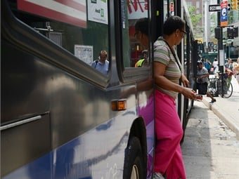SBS is New York City's version of Bus Rapid Transit, with features including customer-friendly amenities such as all-door boarding.Marc A. Hermann
