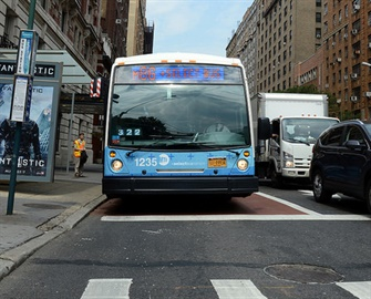 NYC Transit will install an Automated Bus Lane Enforcement system on 123 buses serving some Select Bus Service routes in Manhattan and Brooklyn. Marc A. Hermann/MTA