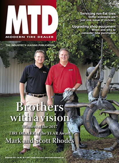 Mark Rhodes and Scott Rhodes are featured on the cover of MTD's September 2017 issue.