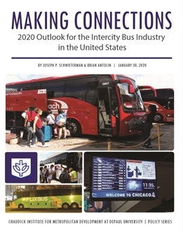 The report, Making Connections: 2020 Outlook for the Intercity Bus Industry in the United States, is the latest installment in DePaul's reviews the changes in scheduled motorcoach service.