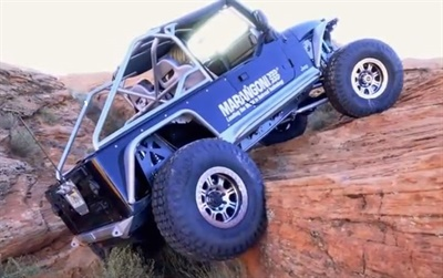 A professional driver took the Jeep LJ rock crawling in southwest Utah in order to put the retreads through the extreme.
