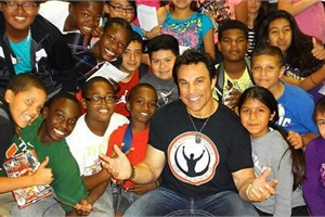 Marc Mero (center) is a former wrestler and now an international speaker who formed the nonprofit organization Champion of Choices, which strives to empower students to make healthy and positive choices that lead to lifelong success. Anti-bullying is part of the organization's message.