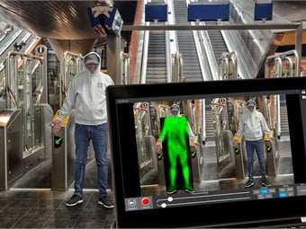 Thruvision people-screening technology works by showing the size, shape and location of any concealed items that block a person's body heat. Thruvision