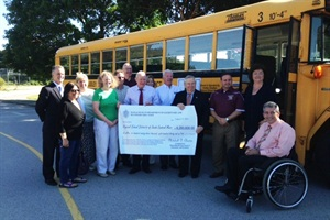 Last week, two Massachusetts senators joined regional school leaders in Dudley to celebrate an increase in regional school transportation reimbursements in the state budget.