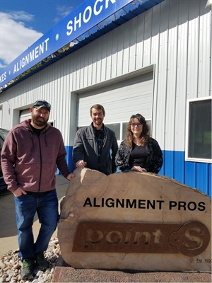 (From left): Matt Veal, Matt Petersen and Kalina Petersen are partners in Alignment Pros–Point S, which has specialized in alignment service since 1990. Courtesy of Alignment Pros-Point S