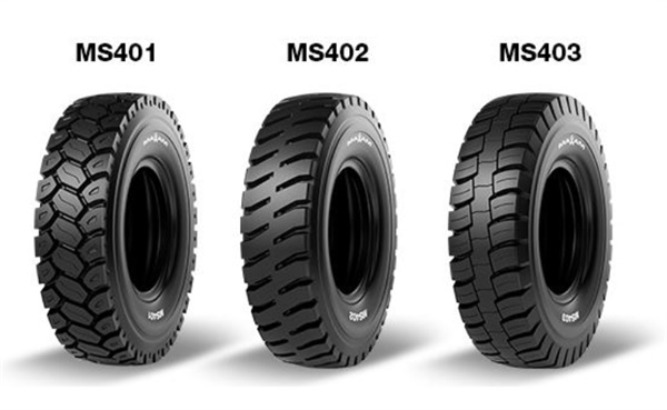 The new MS401, MS402 and MS403 tires from Maxam are available for haul trucks up to 320 tons.