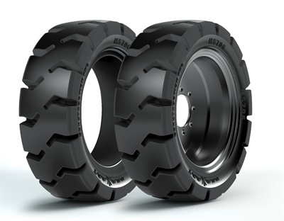 Maxam says the solid centerline of the new MS706 Construction Pro solid skid steer tire provides smoother running on hard surfaces and better chunk resistance on rough ground.