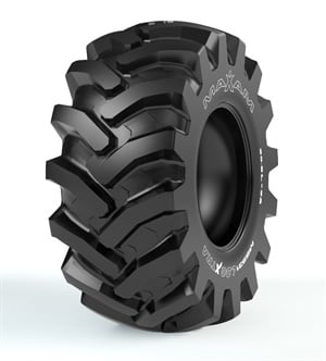 Maxam says the high-strength, belt-stabilized construction of the new MS931 LogXtra tire provides excellent traction and flotation in severe logging applications.