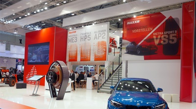 Maxxis had an expansive booth at the recent Tire Cologne in Germany.