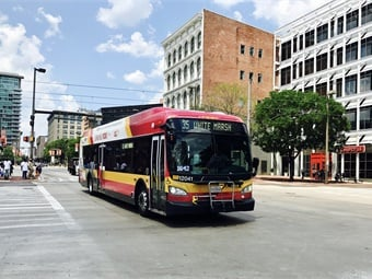 BaltimoreLink, which launched in June 2017, was a $135 million, multi-phase plan to create an interconnected transit system by redesigning local and express bus systems throughout Baltimore and adding 12 new high-frequency, color-coded routes that improve connections to jobs.