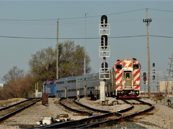 Metra is responsible for creating the back-office system for positive train control and installing the equipment on board all Metra trains and along the tracks of the five routes it control. Photo: Metra