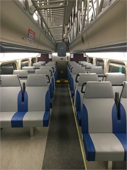 The new seats feature armrests, cup holders and better head, neck and lumbar support. Photo: Metra