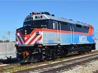Metra's goal is to operate at least 95% of its trains on time.Metra