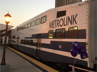 Ten years ago, a Metrolink passenger train collided head-on with a Union Pacific freight train in the Chatsworth area of the San Fernando Valley. Photo: Metrolink