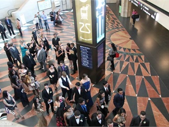 Students arriving at Union Station in Los Angeles. Photo via Metrolink/Facebook