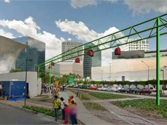 A 3D rendition of a TUEP monorail in Mexico City. Via SECITI