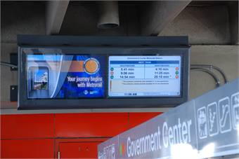 The monitors will flash an announcement on screen whenever there is a disruption of service.