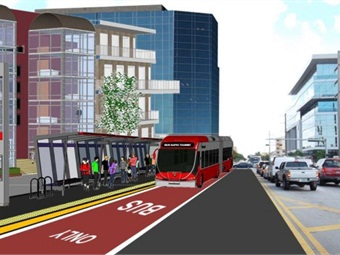Miami-Dade County rendering of proposed BRT corridor.