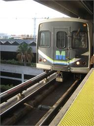 Miami Metrorail train at Government Center station. Photo courtesy DearEdward, Flickr Commons.