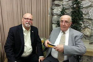 Anton Neyens (right), celebrated his 90th birthday on Sunday. Neyens served as transportation manager at Bellingham (Wash.) Public Schools for 17 years before moving into school bus sales. He retired in 1998. He's pictured at his birthday celebration with longtime friend Michael Shields of Oregon's Salem-Keizer Public Schools.