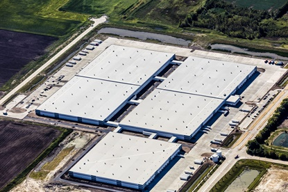 The Michelin warehouse in Wilmington, Ill. is about the size of 30 football fields.