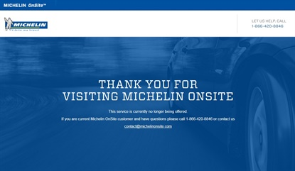 Fifteen months after its launch, Michelin has pulled the plug on its mobile tire installation service.
