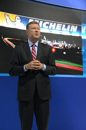 Scott Clark says Michelin's partnership with the IMSA serves as a proving ground for itstires. The IMSAis celebrating its 50th anniversary this year.