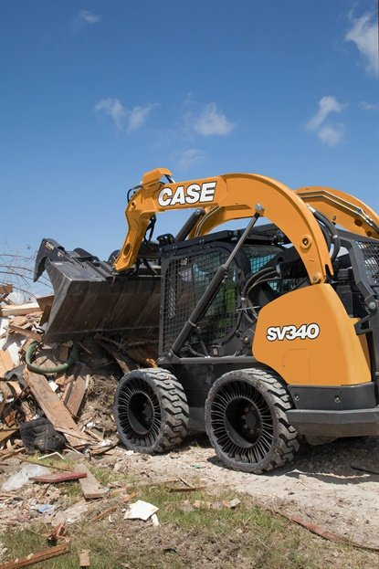 Case Construction is offering the Michelin Tweel as an OE option on its 2018 model skid steers.