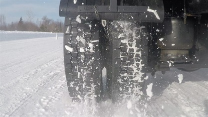 """Michelin says the X Multi D offers """"more grip, less slip"""" on snowy surfaces."""