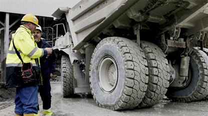 The Michelin Xtra Load Protect is designed to labor on hard, flat surfaces at quarries and construction sites.
