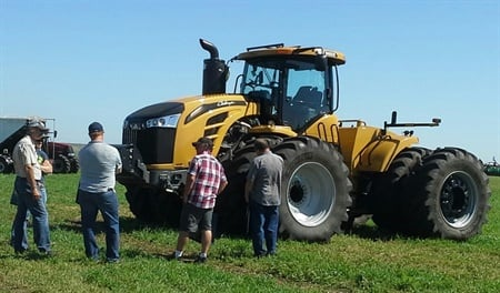 Michelin is demonstrating CTIS (central tire inflation system) technology, which enables a tractor operator to change tire pressures on the go, at the Farm Progress Show.