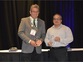 DART's Mike Hubbell and BBB's Getty Modica were winners of METRO's first Maintenance Director of the Year Award.