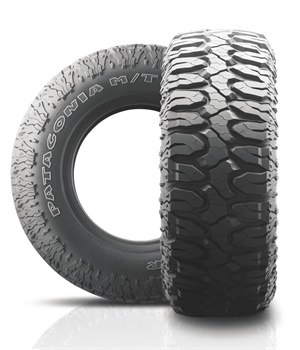 Tireco's size 40X13.50R17 for its Milestar Patagonia M/T Maximum Traction tire for light trucks, SUVs and off-road vehicles will be available next year.