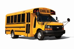 Thomas Built is now beginning pilot production of a CNG-fueled Minotour Type A school bus. (The model pictured is not a CNG version.)