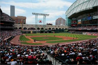 The Purple Line also will make convenient stops at Houston Astro's Minute Maid Park (pictured), Houston Dynamo's BBVA Compass Stadium and the University of Houston's new TDECU football stadium.