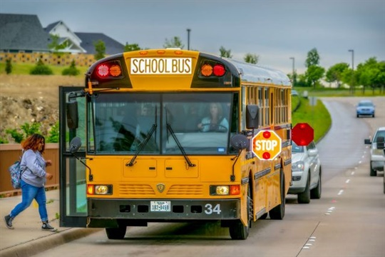 "Throughout August, Arkansas' statewide ""Flashing Red. Kids Ahead"" initiative will promote the need for motorists to stop for school buses. File photo by Mitzi Bowers"