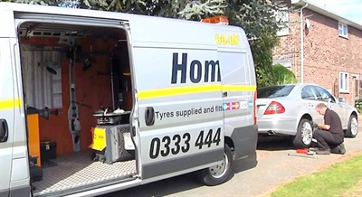 Mobile tire fitting is an increasingly popular option in Europe.