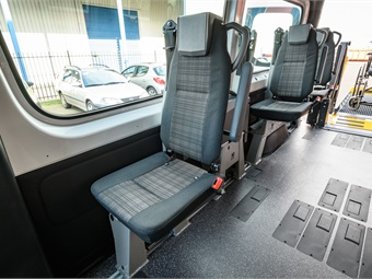 MobilityTRANS has over 175 years combined experience in management alone, and builds 18- to 22-foot vans and small buses. MobilityTRANS