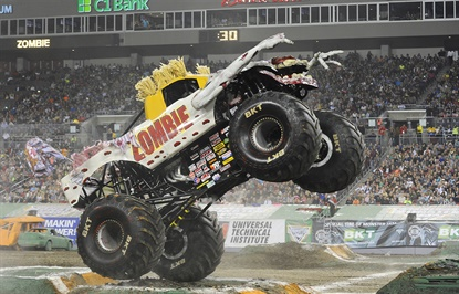 Monster Jam will make four stops in Wales, Sweden, and Germany by November 2016.