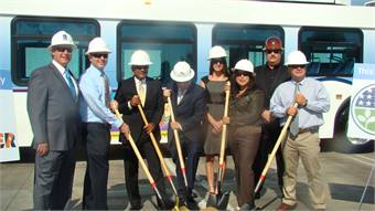 Officials from the City of Montebello, Clean Energy and Montebello Bus Lines recently broke ground on a new fueling facility.
