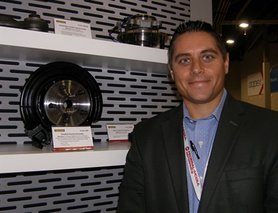 Federal-Mogul Motorparts' Kevin Kolath says the new Moog complete knuckle assembly saves technicians up to an hour-and-a-half on a repair.