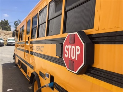 Colton Joint Unified School District will place two electric Type C Starcraft buses, powered by Motiv Power Systems, on its routes in the next few weeks.