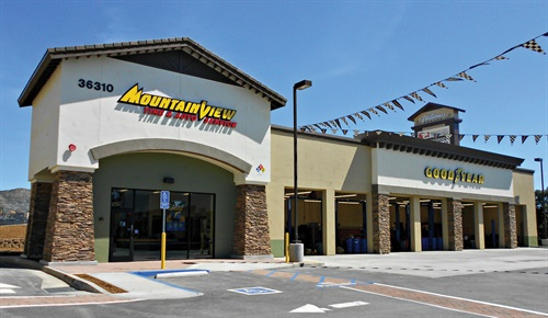 A Mountain View Tire & Service store opened in April 2018 in Wildomar, about 75 miles south of Los Angeles.