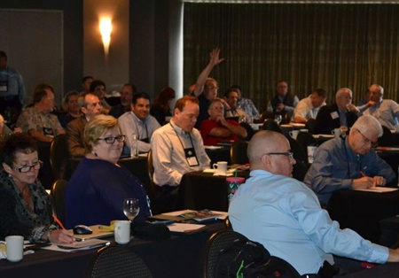 NASDPTS, which turns 50 in November, connects state directors with federal regulators, school bus manufacturers, suppliers, and other industry groups. Seen here is the association's 2016 conference.